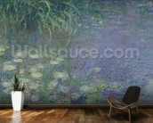 Waterlilies: Morning, 1914-18 (left section) wall mural kitchen preview