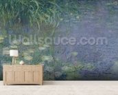 Waterlilies: Morning, 1914-18 (left section) wall mural living room preview