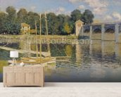 The Bridge at Argenteuil, 1874 (oil on canvas) wall mural living room preview