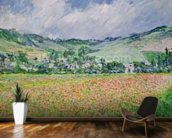 The Poppy Field near Giverny, 1885 (oil on canvas) wallpaper mural kitchen preview