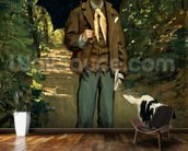 Man with an Umbrella, c.1868-69 (oil on canvas) wall mural kitchen preview