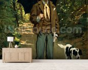 Man with an Umbrella, c.1868-69 (oil on canvas) wall mural living room preview