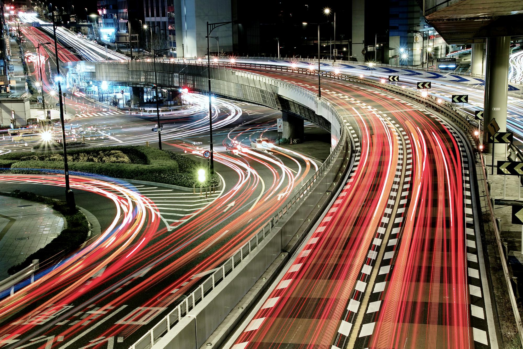 Chaotic Traffic Wallpaper Mural