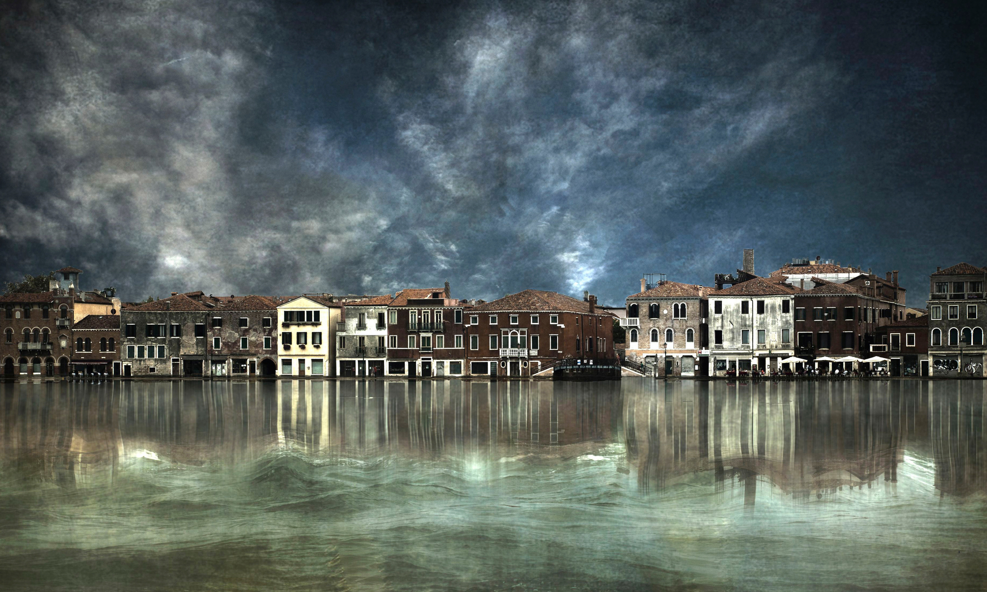 Reflections In Venice Wall Mural