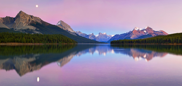 Maligne Lake wall mural