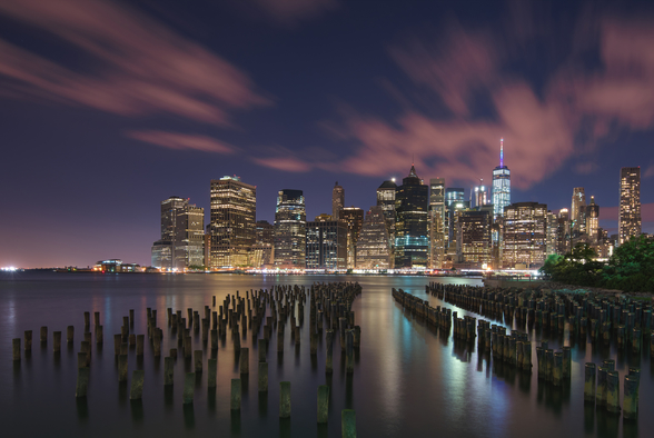 New York City at Night wall mural