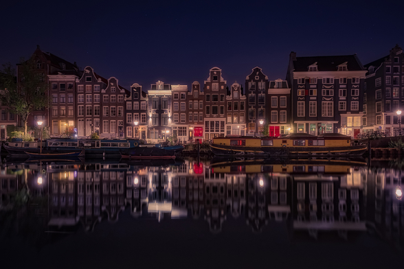 Amsterdam Refelections mural wallpaper
