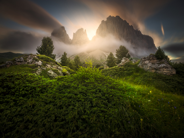 Dolomia Sunset wall mural