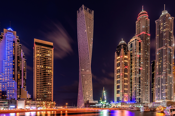Dubai Marina at Night wallpaper mural