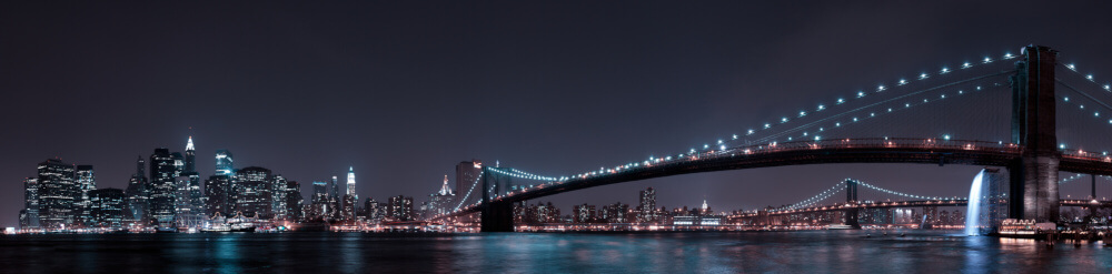 Manhattan Skyline and Brooklyn Bridge wallpaper mural