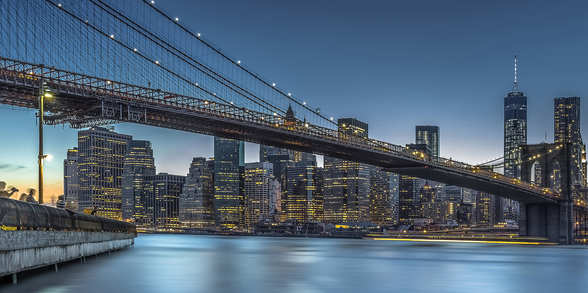New York - Blue Hour over Manhattan wallpaper mural