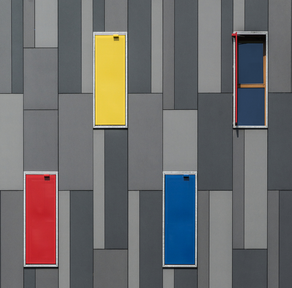 Three Colours and a Window wall mural