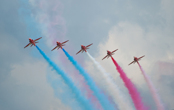 Red Arrows wall mural