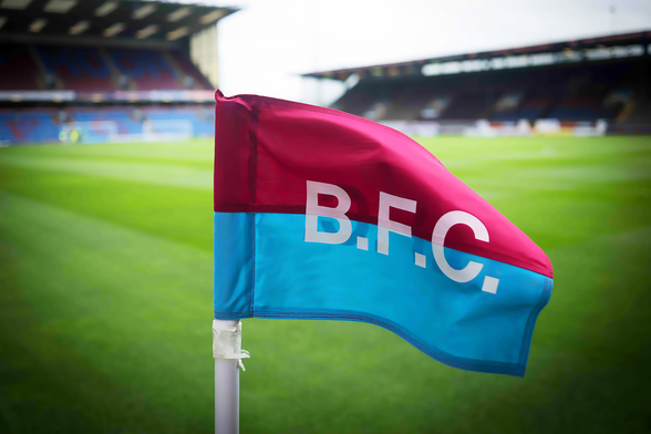 Turf Moor Corner Flag mural wallpaper