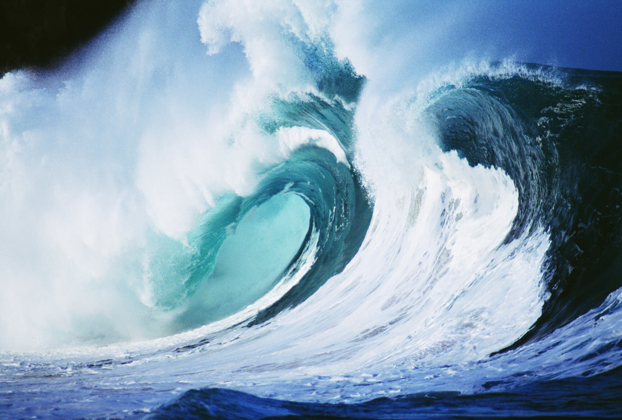 Stormy ocean wave curling over with whitewash wall mural stormy save your design for later amipublicfo Choice Image