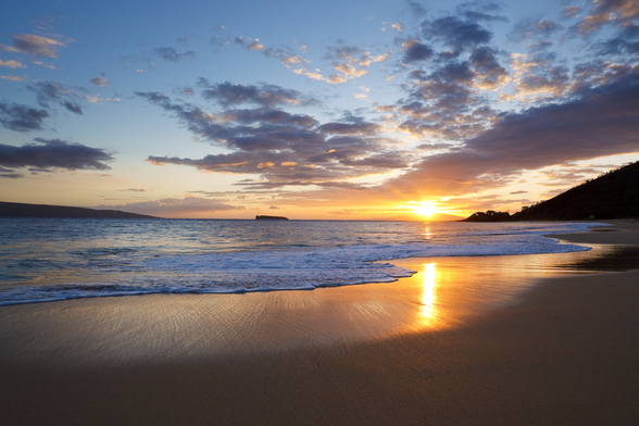 Maui Beach Sunset wallpaper mural