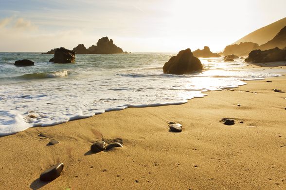 California, Big Sur, Pfeiffer Burns Beach At Sunset mural wallpaper