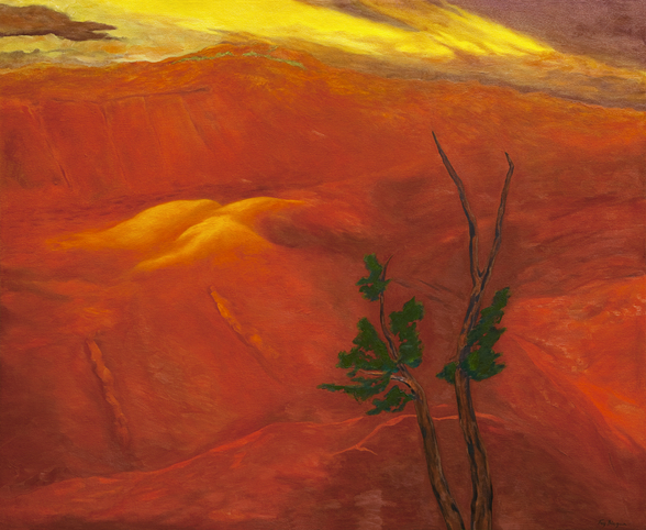 Evening Light Over The Naturally Red Hills wall mural