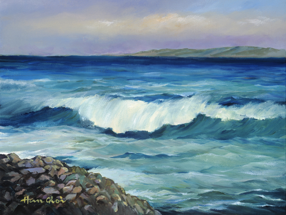 Wave Curling Near Shore wall mural