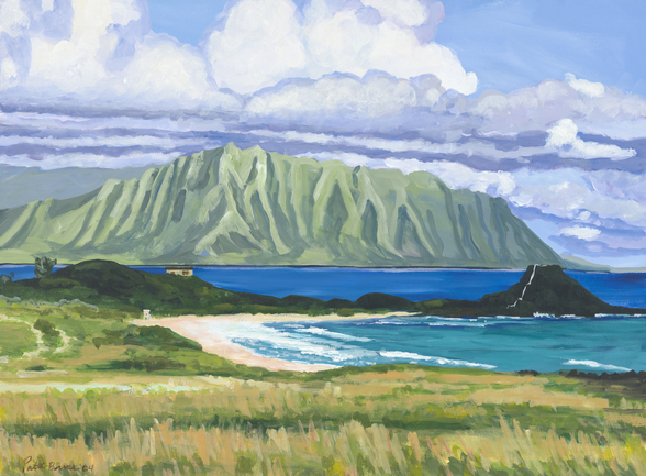 Pyramid Rock And Kualoa Point mural wallpaper