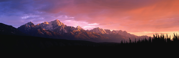 Chugach Mountains At Sunset wall mural