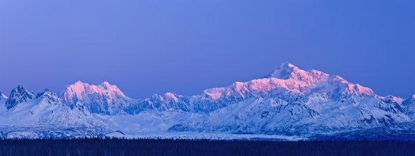 Panoramic View Of Sunrise Over Mt. Mckinley mural wallpaper