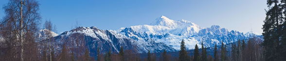 Panoramic View Of Southside Mount Mckinley mural wallpaper