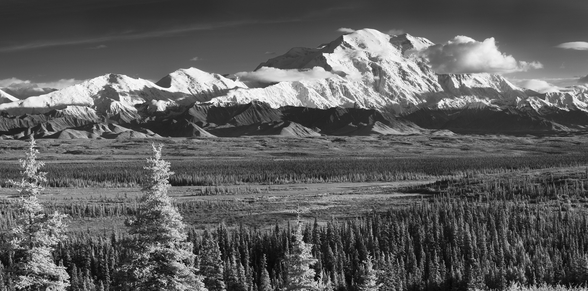 Infrared Panorama Of Denali And The Alaska Range wall mural
