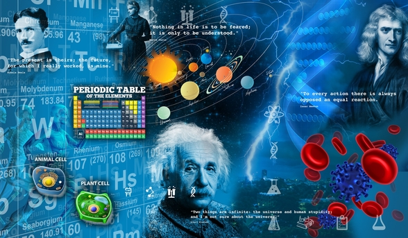 Amazing Science - customised versions available wall mural
