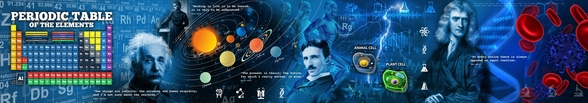 Amazing Science Panoramic - customised versions available wall mural