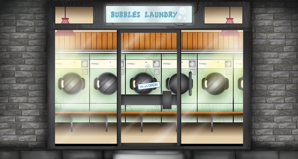 Laundrette wallpaper mural