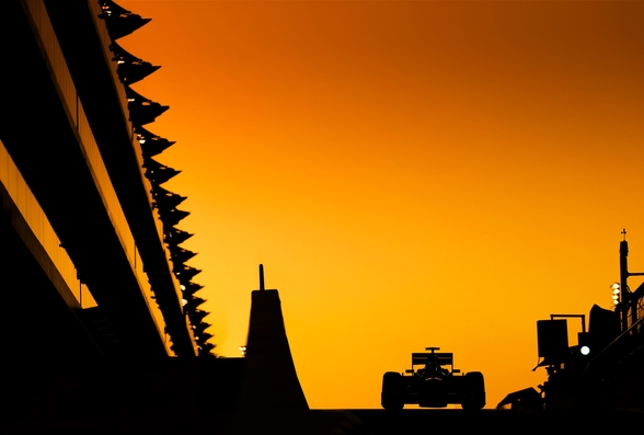 Abu Dhabi Grand Prix at Sunset, 2012 wall mural
