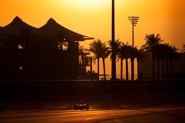Abu Dhabi Sunset 2013 mural wallpaper