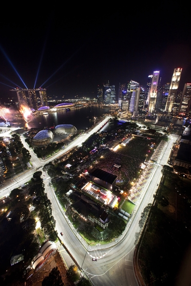 Marina Bay Street Circuit, Singapore (Portrait) wall mural