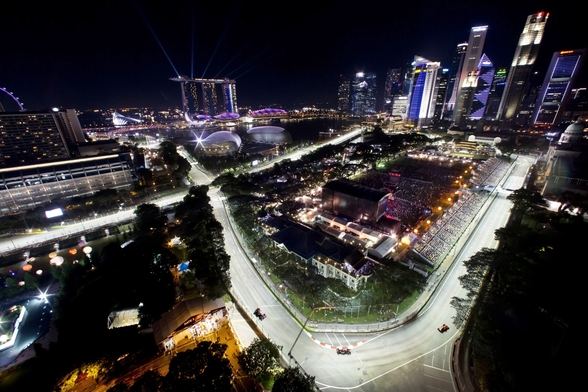 Marina Bay Street Circuit, Singapore (Landscape) wall mural