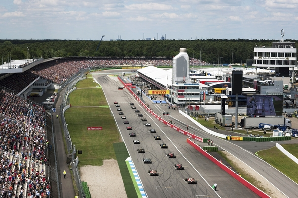 Grand Prix Start, Hockenheimring, Germany 2012 mural wallpaper
