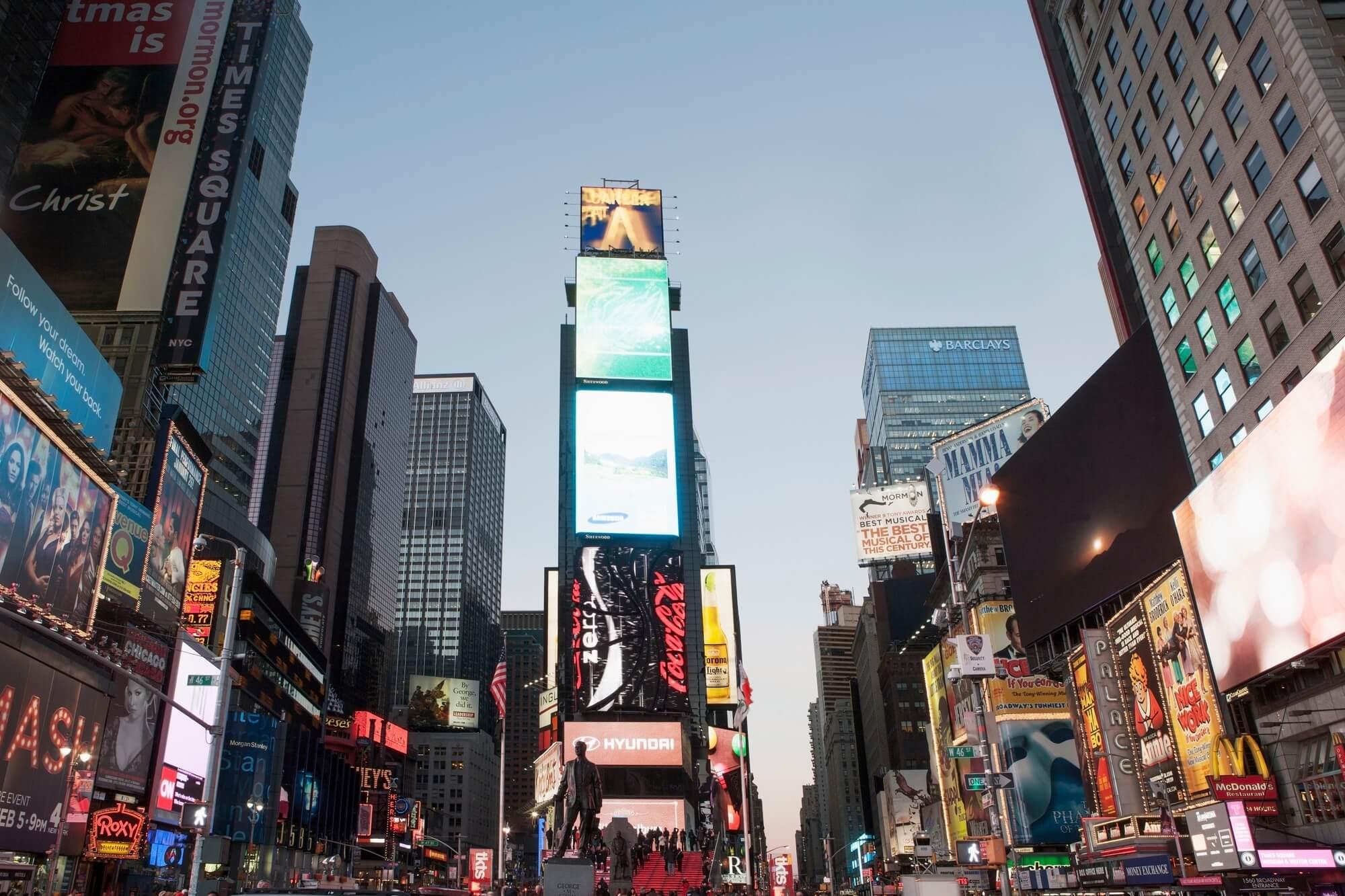 Time Square Billboards Mural & Time Square Billboards