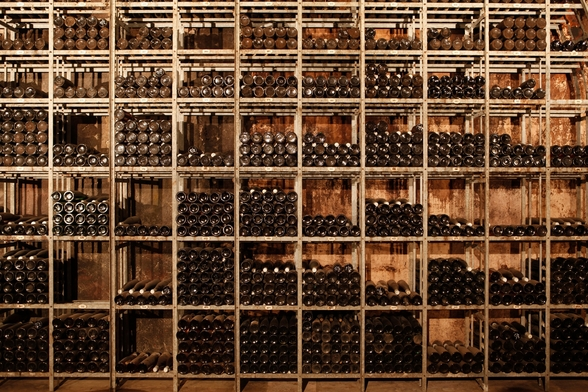 Wine Racks mural wallpaper