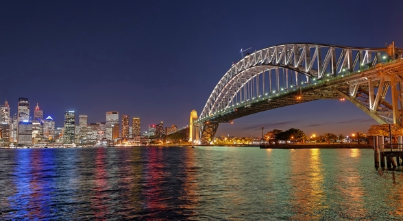 Sydney Harbour Bridge Reflections wall mural