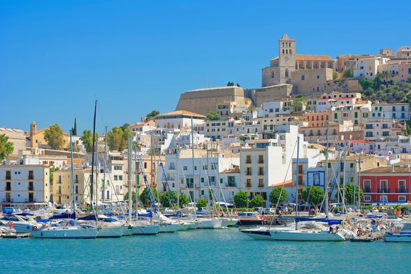 Ibiza Harbour mural wallpaper