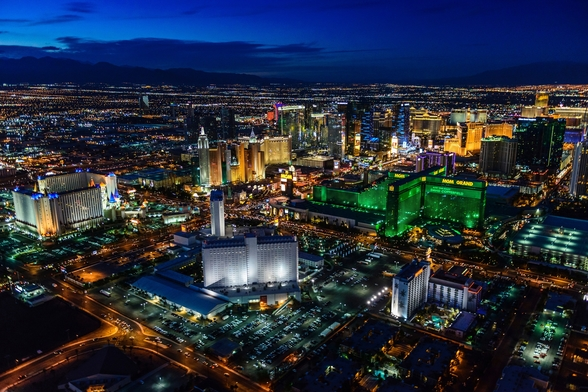 Las Vegas Lights wall mural