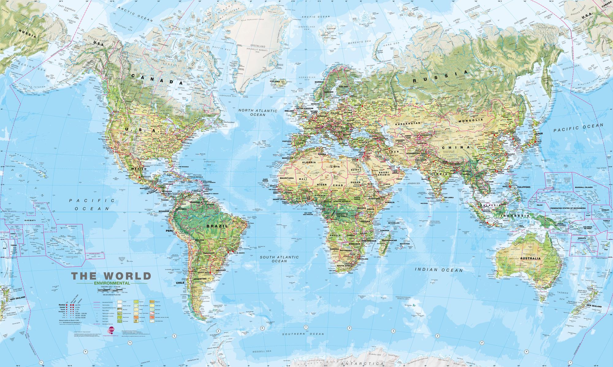 World Environmental Map