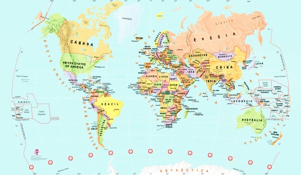 Childrens World Map wallpaper mural