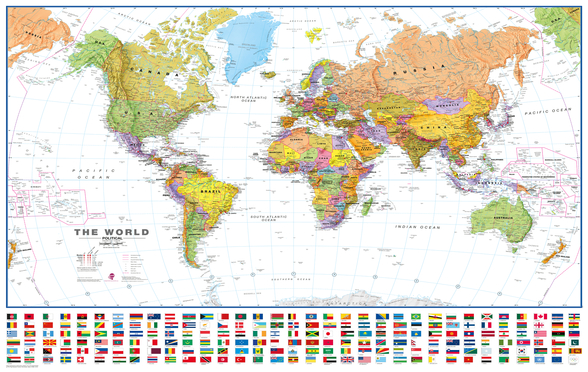 World White Flags wall mural