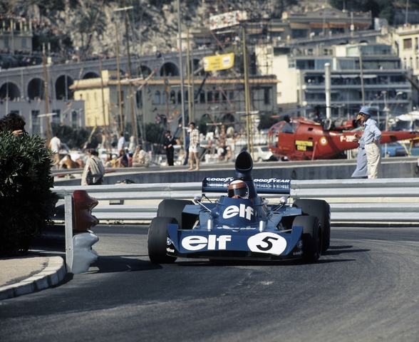 Jackie Stewart, 1973 Monaco Grand Prix in a Tyrrell 006 wallpaper mural