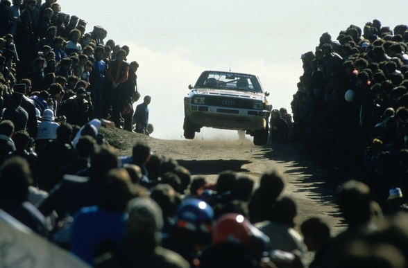 Group B Rally Car and Fans, Portugal 1985 wall mural
