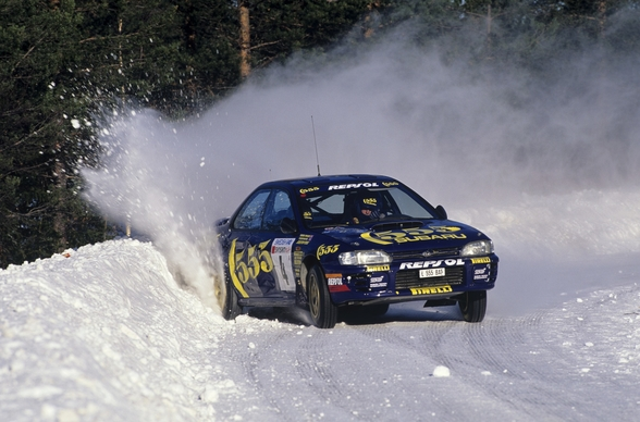 """If In Doubt, Flat Out"" Colin McRae wall mural"