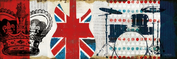 British Invasion II mural wallpaper