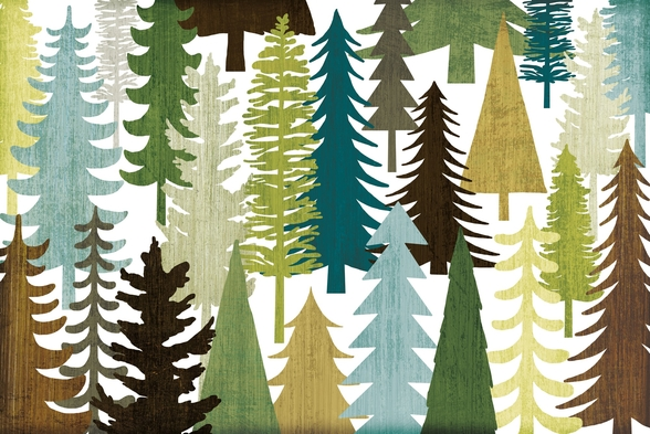 Woodland Trees wallpaper mural