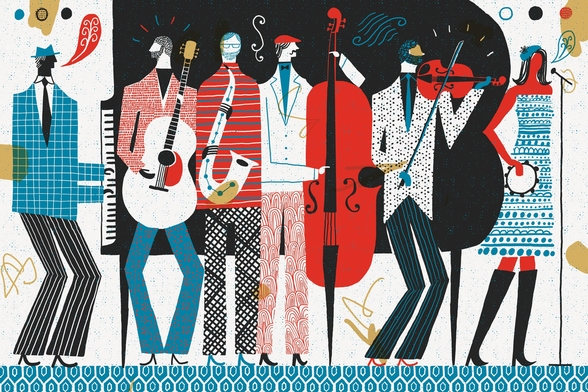 The Band wall mural